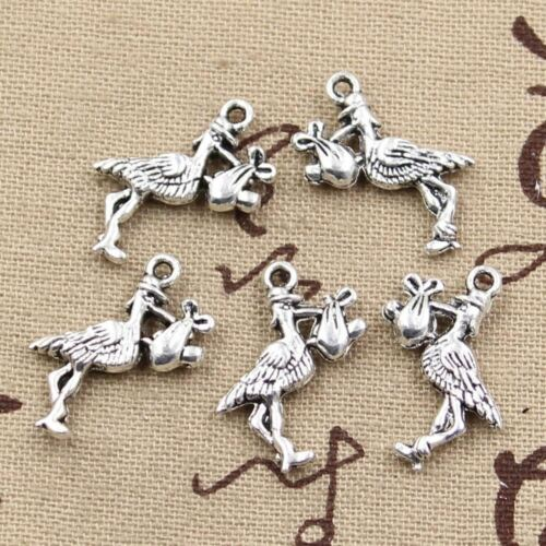 8pcs Charms stork baby bird 23*18mm Antique Making pendant fit,Vintage Tibetan S
