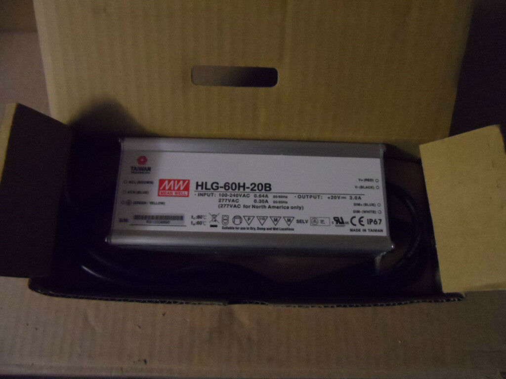 Mean Well controlador de LED Regulable hlg-H Transformador LED 40w - 320w-Resistente al Agua IP67