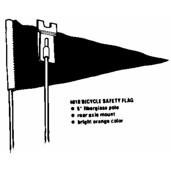 6' arancia Safety Flag Bell Sports 1006657 fiberglass pole,rear axle mount 6 Pk