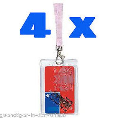 4 Stück Ausweishülle Hülle Kartenhülle Schutzhülle Transparent Soft