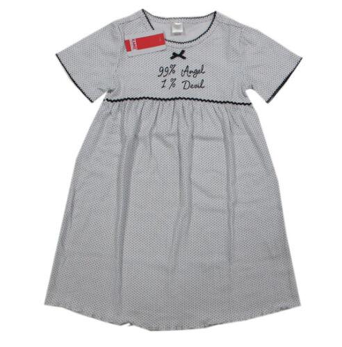 Kanz Nachtwäsche Nachthemd Weiß Baumwolle Mädchen Kurzarm Gr 92 98 104 110