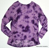 One World Women's Mixed Fabric Knit/woven Top Sizes Small Or Medium Tie Dye