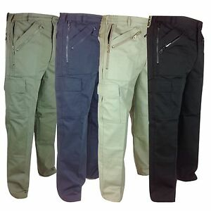 Combat Mens Trousers Pockets Zip 30 Action Multi Side Pocket 48 TrqxqEHw