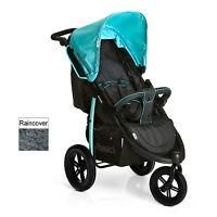 Hauck Viper Slx 3 Wheel Pushchair Stroller Caviar / Capri From Birth