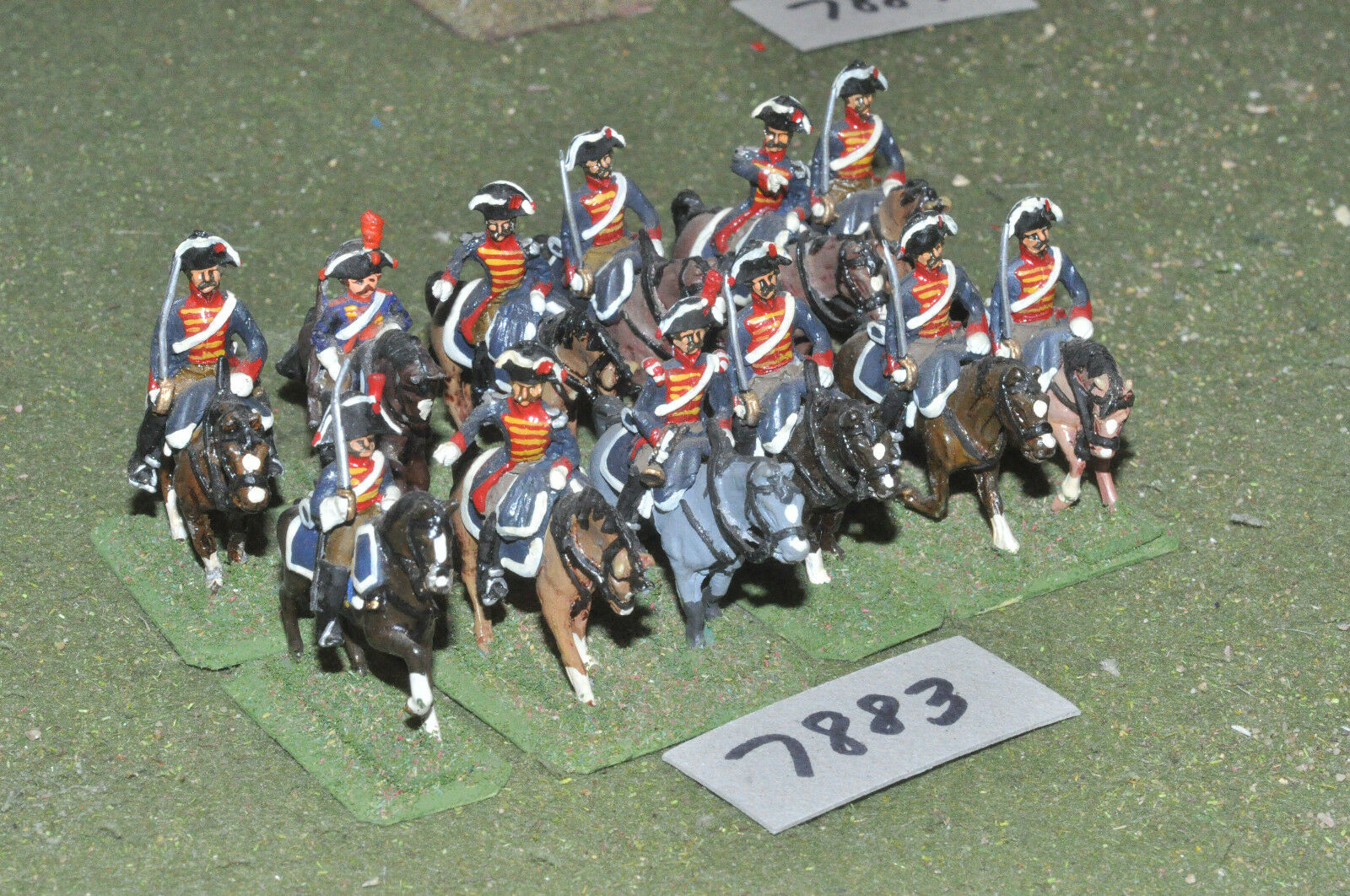 25mm napoleonic   french - revolutionary wars 12 cavalry metal - cav (7883)