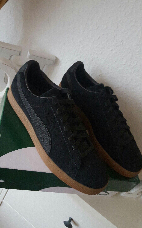 * PUMA SUEDE CLASSIC NATURAL warmth Scarpe uomo sneaker nero pelle 45 NUOVO
