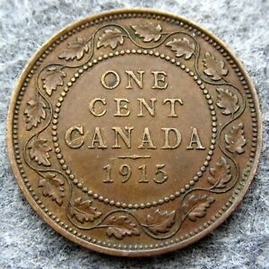 CANADA-GEORGE-V-1915-ONE-CENT-BRONZE