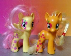 Applejack-Fluttershy-Cutie-Mark-Magic-G4-My-Little-Pony-FiM-3-034-Brushable-MLP