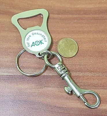 Schlüsselanhänger Mit Flaschenöffner Aus Metall Mit Schlüsselring Karabiner Aok