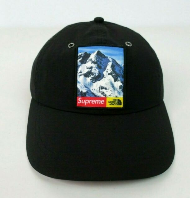 bf8fcfd0b Supreme X The North Face Mountain Black 6 Panel Cap Hat Fw17 100 Authentic
