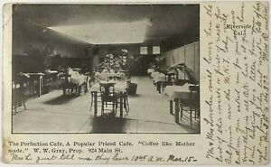 Postcard Riverside CA Perfection Cafe Inside View Balloon Route 1900's Undivided