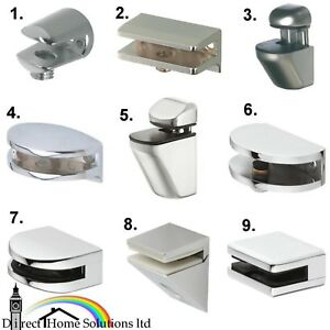 Hafele shelf support polished chrome brackets clamps for for Staffe per mensole in vetro