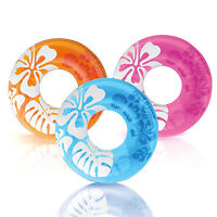 Intex Colorful Transparent Inflatable Swimming Pool Tube Raft (3 Pack) | 59251ep on sale