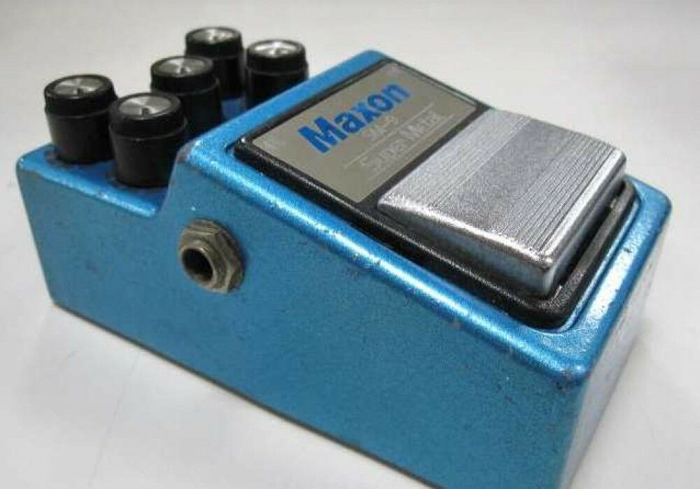 Used  MAXON SM-9 Super Metal Vintage Guitar Effects Pedal Made in Japan