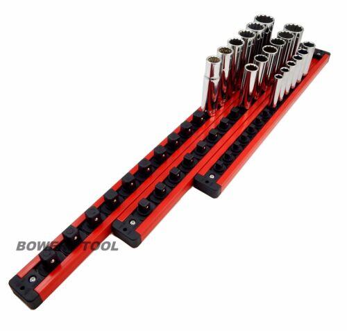 Mechanics Time Saver 1//4 3//8 1//2 Disque Serrure une prise Barre magnétique Rack Set Mts