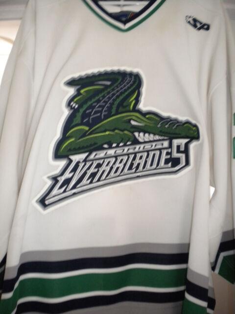 112faa9f459 ECHL AHL FLORIDA EVERBLADES PETER REYNOLDS GAME WORN HOCKEY JERSEY ...