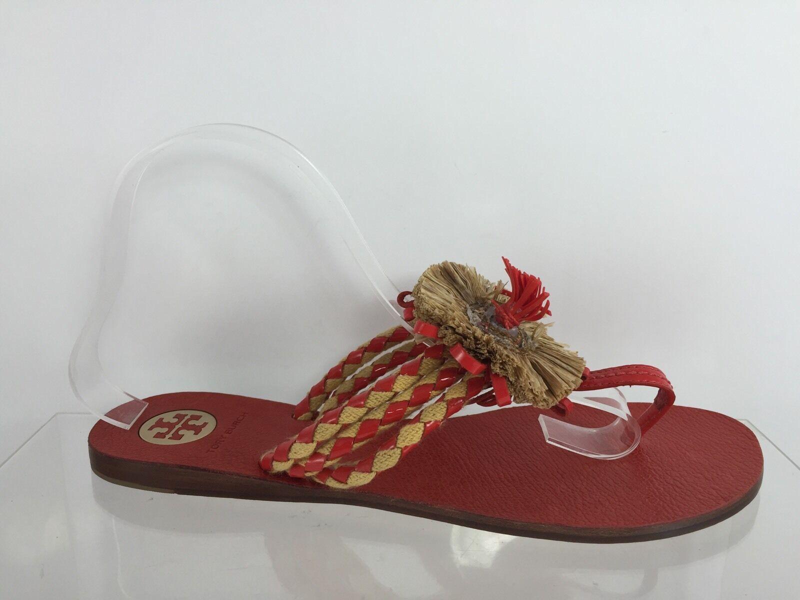 Tory Burch Donna Red Flip Flops 10 M