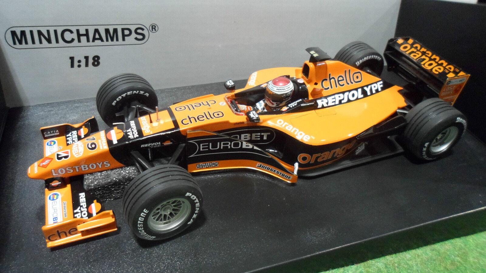 F1 ARROWS SUPERTEC A21  19 VERSTAPPEN 1 18 MINICHAMPS  180000019 voiture miniatur  nous fournissons le meilleur