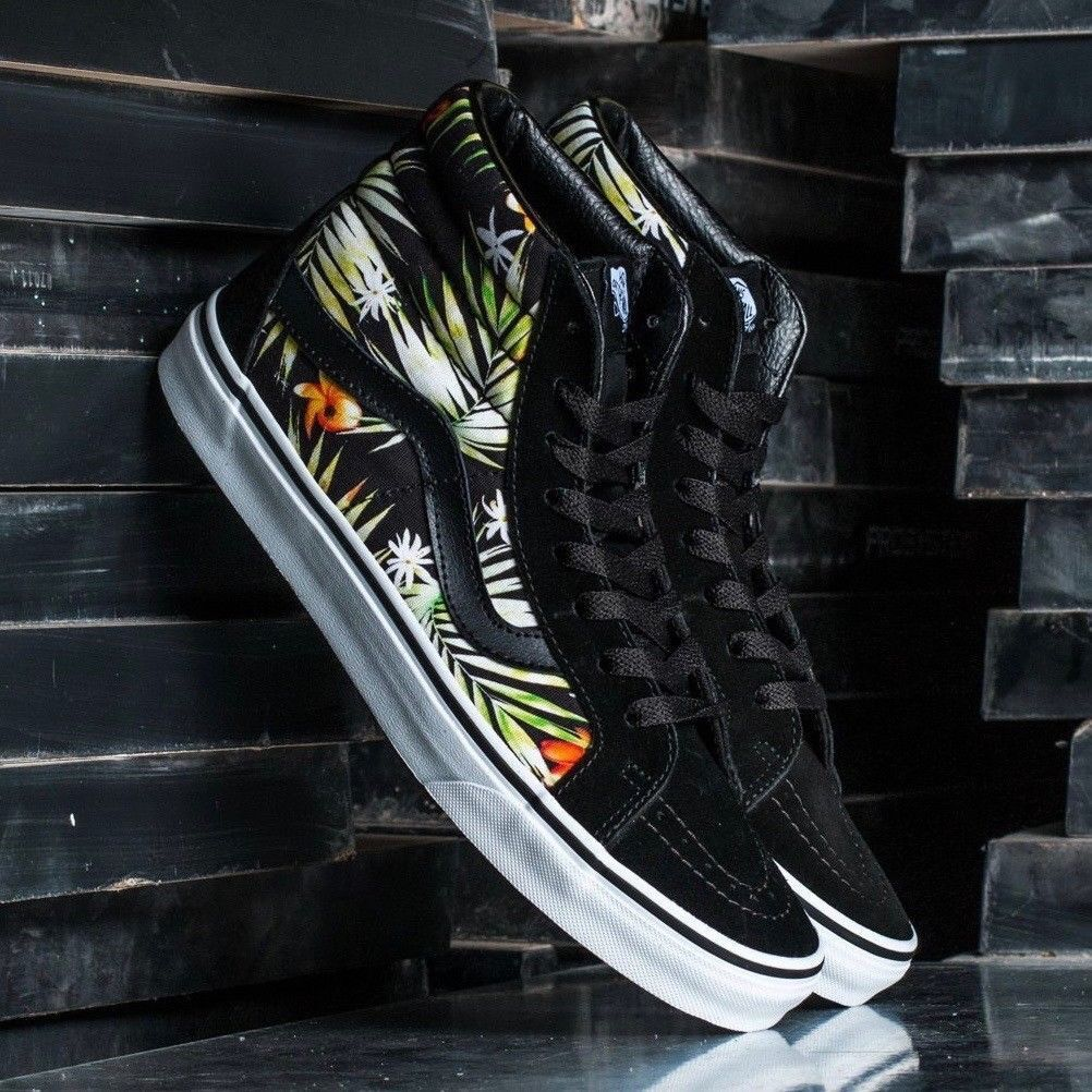 VANS SK8 HI REISSUE DECAY 5 PALMS BLACK/TRUE WOMEN'S SIZE 5 DECAY SKATEBOARDING SHOE b11872