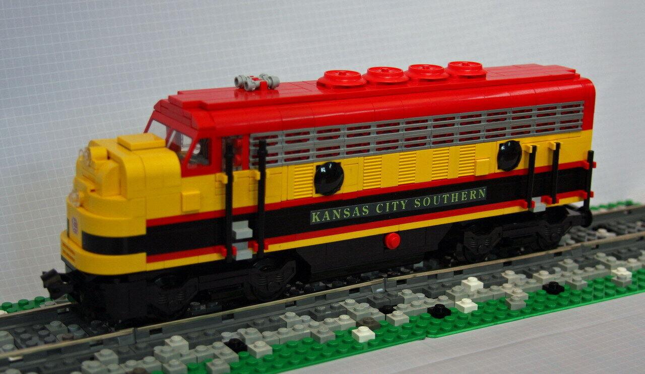 Lego Personalizado Ciudad Kansas Sur Locomotora Kcs FP9