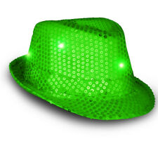ed24d08cad777 item 4 LED Flashing Fedora Hat with Green Sequins -LED Flashing Fedora Hat  with Green Sequins