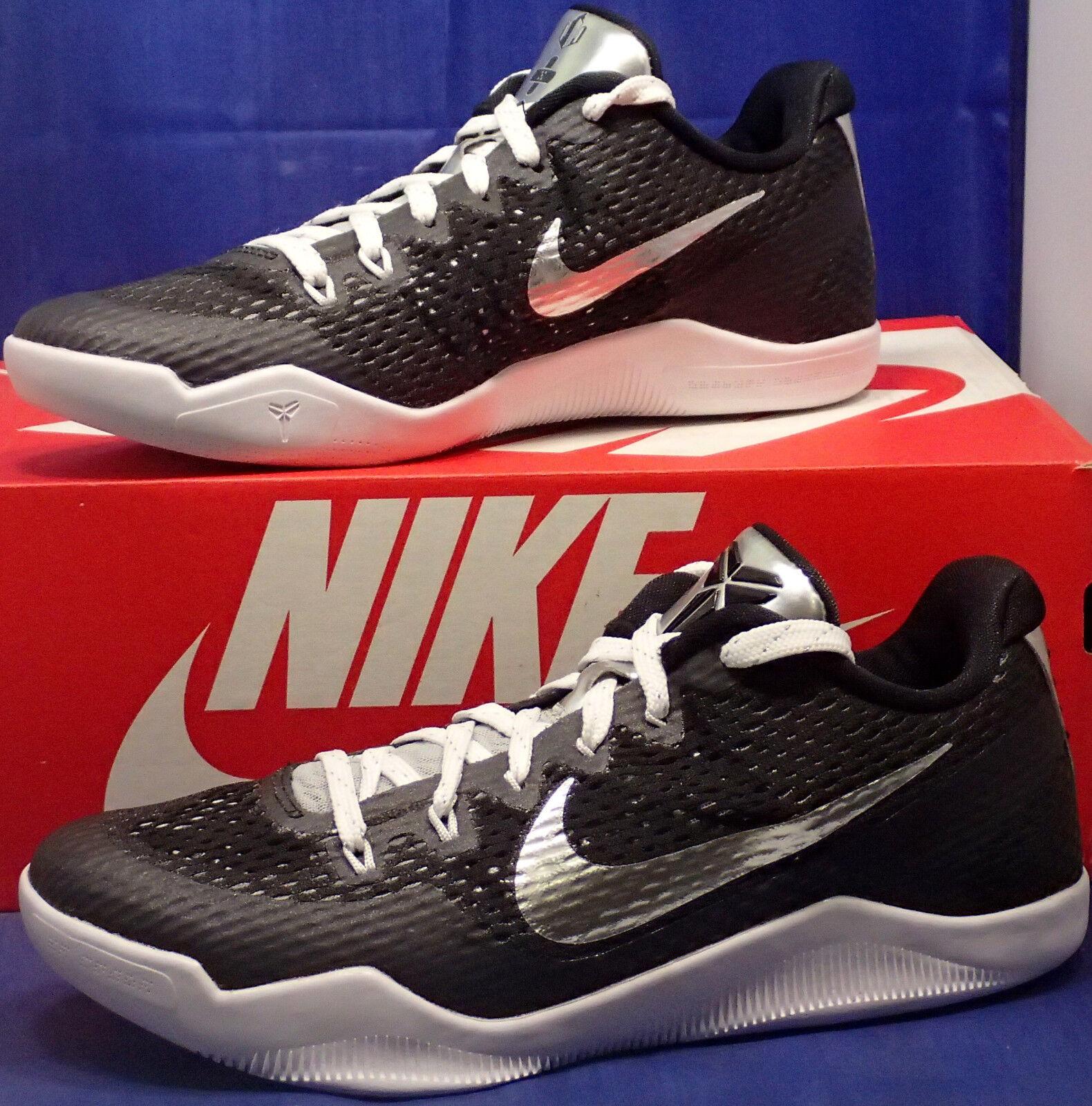 Nike Kobe XI 11 Mamba día QS id Negro Blanco último Metallic Plata reducción de precios el último Blanco descuento zapatos para hombres y mujeres a02c25