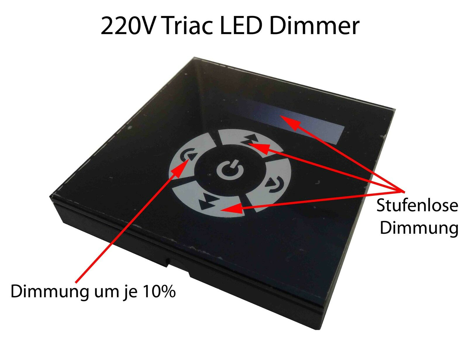 Triac Touch wand Recessed LED Switch Controller GU10 E27 Dimmer 230V High Volt