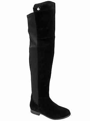 afd740a2fd5 Chinese Laundry Women s Robin Over-The-Knee Pull-On Boots Black Suede Size