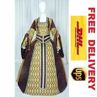 MEDIEVAL RENAISSANCE TUDOR WEDDING HANDFASTING LARP GOWN DRESS COSTUME --- 18B