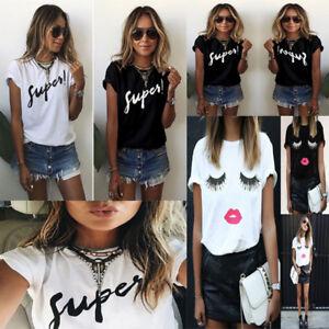 Fashion-Ladies-Summer-Casual-Blouse-Tops-Shirt-Women-Short-Sleeve-Loose-T-Shirts