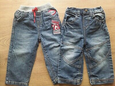 2 X Baby Jeans 18-24 Months G Cherokee And S Junior Pure White And Translucent