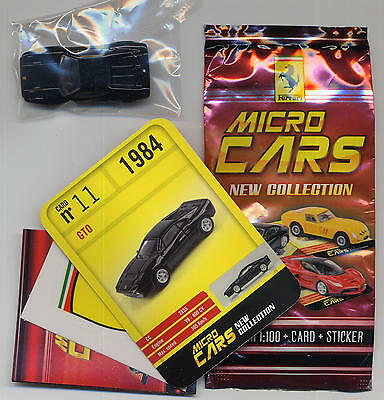 Sincero Micro Cars 2015 Ferrari Gto #11 Card+sticker+bag+bpz 1/100 Kyosho Mib Forte Resistenza Al Calore E All'Usura Dura