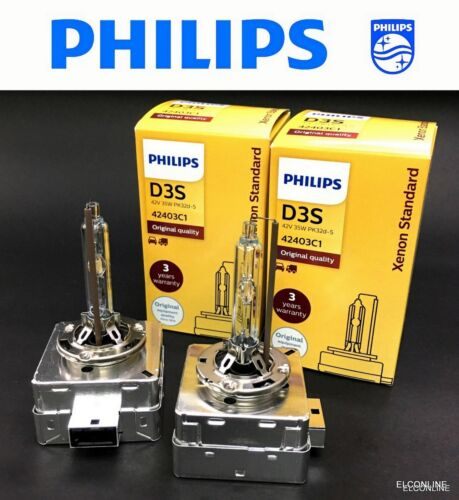 Genuine PHILIPS D3S 42403C1 HID Xenon 42V 35W Bulb x 2 Made in Germany #gtz