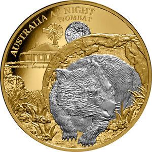 Niue-2021-Australia-At-Night-Wombat-100-1-Oz-Gold-Proof-with-Platinum-Plating