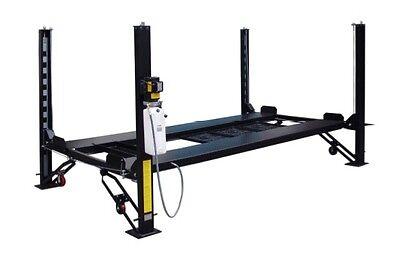 New 8,000 lbs. 4-Post Storage Lift-w/Caster Kit, Ramps, Jack Tray & 3 Drip Trays