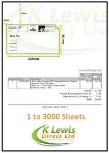 110x60mm s14 a4 peel off ebay integrated invoice shipping postal