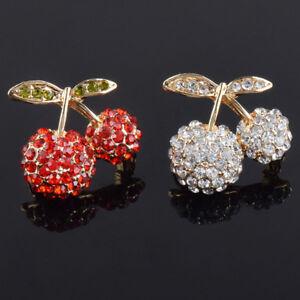 Fashion-Womens-Bridal-Gold-Plated-Cherry-Pin-Crystal-Rhinestone-Wedding-Brooch