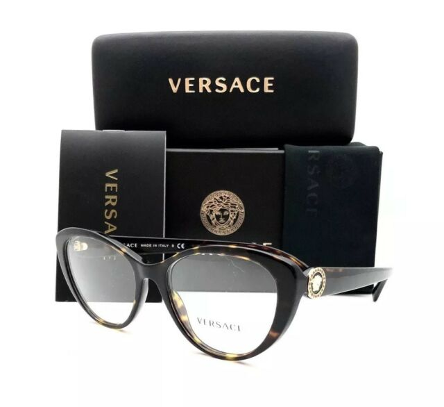 72e5e5513697 Versace Women s Eyeglasses 3246 b 108 Dark Havana Full Rim Optical ...