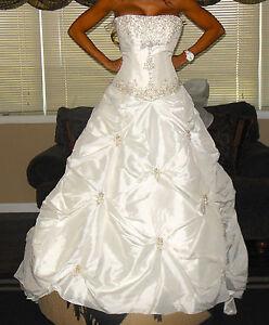 Image Is Loading WOW NEW W Tag PRINCESS Wedding Dress Silk