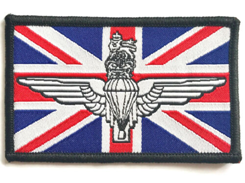 PARA WINGS UNION JACK PATCH sew on British military embroidered flag badge R//W//B