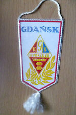 Pennants: SEKCJA ZUZLOWA ROK ZALOZENIA 1962~GDANSK WYBRZEZE (apx.15x7 cm)