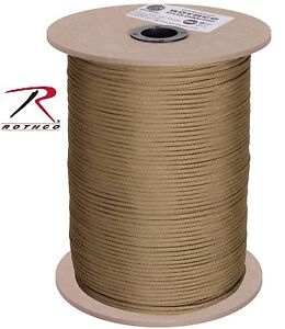 Paracord 1000 Foot Coyote Brown Color 550 lb 7 Strand