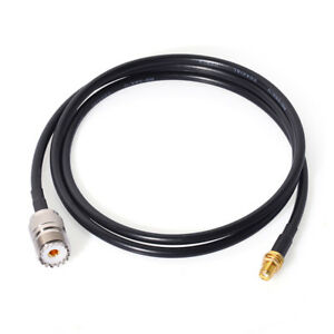 SMA-Female-to-UHF-SO-239-Female-1m-Cable-Ham-Two-Way-Radio-Antenna-Adapter-Cable