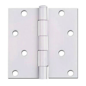 cosmas white door hinges 4 inch with square corners 52 1096 ebay
