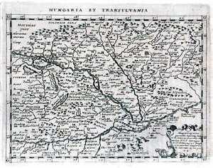Antique-map-Hungaria-et-Transylvania