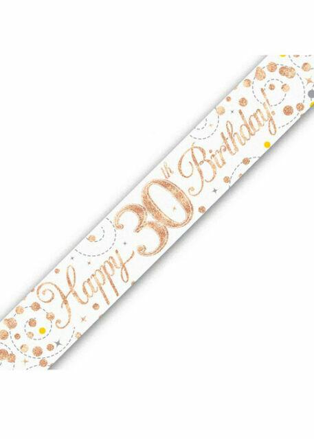Rose Gold Sparkling Fizz 9ft Foil Banner Birthday Ages 16-90 Party Decoration
