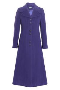 Busy-Ladies-Purple-Wool-Blend-Long-Coat