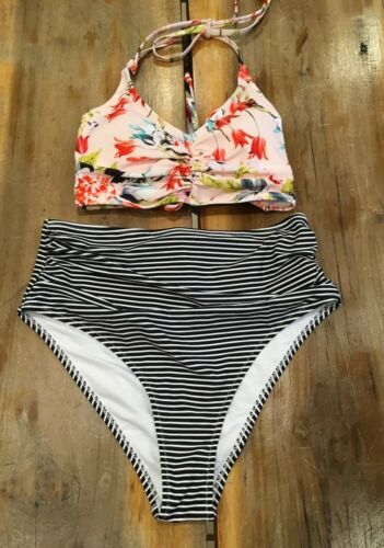 Women's Cupshe This Is Love Tank Bikini Set Size Small NWT