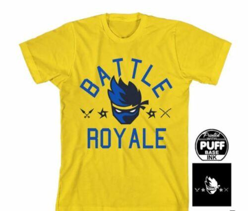 Fortnite Ninja Battle Royale Graphic T-shirt Yellow Big Kids  Size XS 6//7