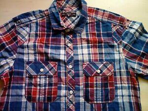 Mens-Short-Sleeve-Check-Shirt-Medium-M